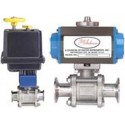 Series BV3-TC Automated Ball Valve – Three-Piece SS Sanitary